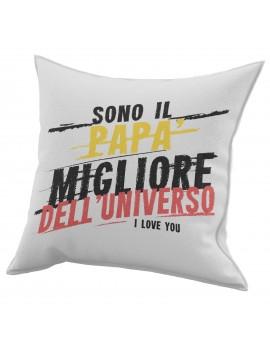 Cuscino in cotone per festa del Papà idea regalo MIGLIORE DELL'UNIVERSO GR433