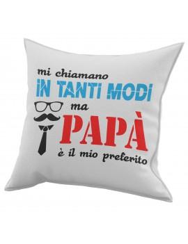 Cuscino in cotone per festa del Papà idea regalo OCCHIALI BAFFI CRAVATTA GR437