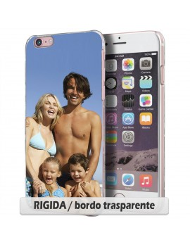 Cover per HTC Butterfly x8920e - RIGIDA / bordo trasparente