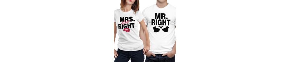 Tshirt di Coppia – Maglie e Magliette di Coppia – Regali di Coppia